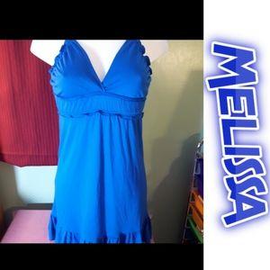 size medium Melissa ruffled blue sundress